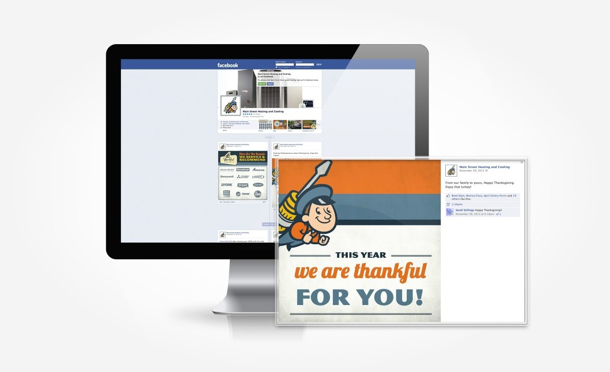 Facebook post graphics and management for this Utah based heating and air conditioning contractor.