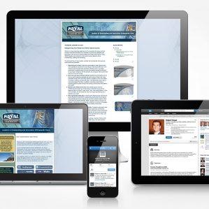 Facebook, Twitter, Linkedin, blog and newslettter design and management for Kayal Orthopaedic Center.