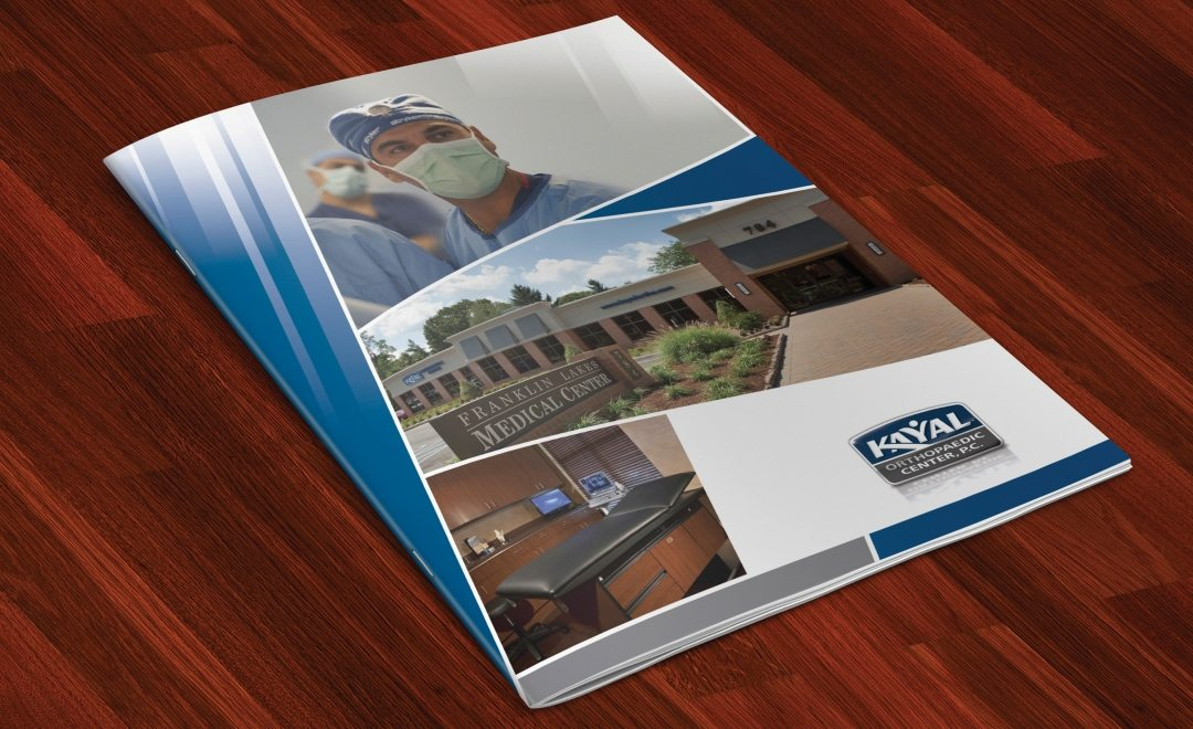 Full color multipage brochure design for Kayal Orthopaedic.