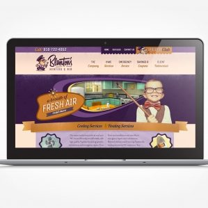 Web design for a HVAC contractor located in NC.