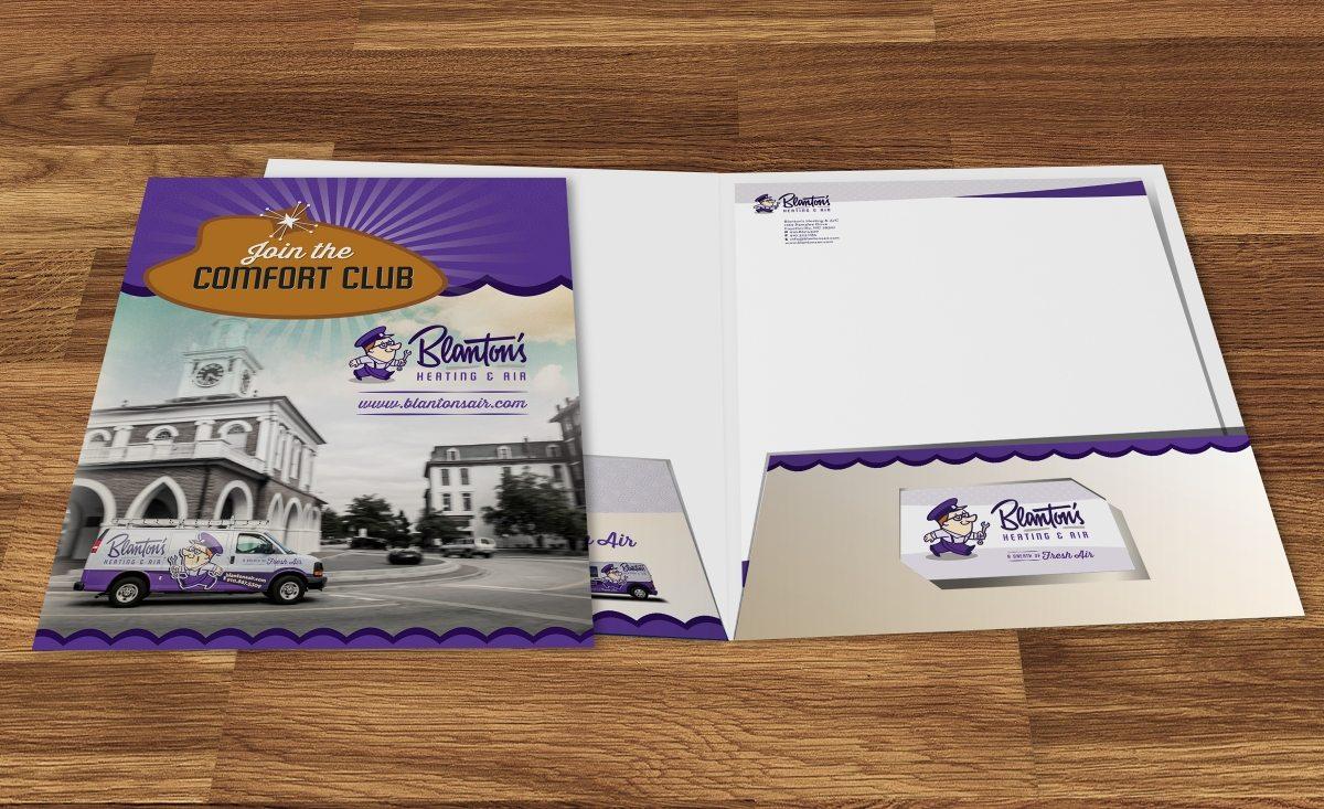 Presentation folder design and printing