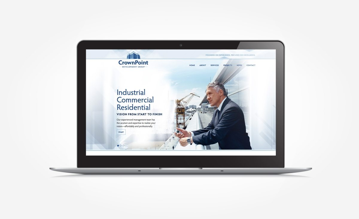 Web design for a real estate development and construction firm located in Morristown, NJ.