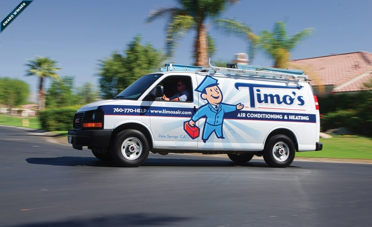 We completed the Timo's Air rebranding in 2011. Since then their business has doubled.