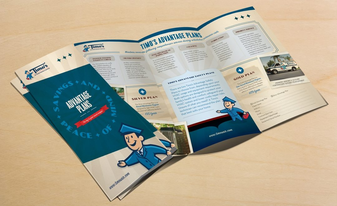 Collateral and brochure design, copywriting and printing for service