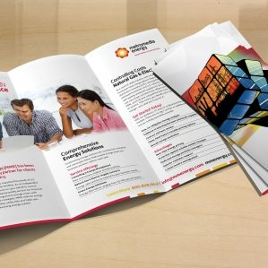 Collateral and brochure design, copywriting and printing for tri-fold