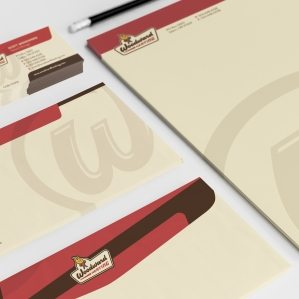 Stationery design for a full service HVAC contractor located in Aumsville, OR.