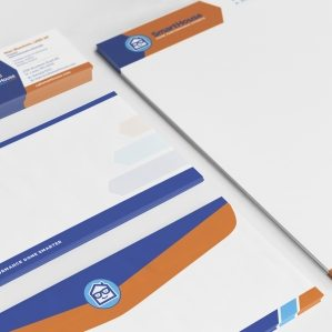 Stationery design for a HVAC contractor in St. Louis, MO.