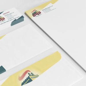 Stationery for a signage and graphics company.