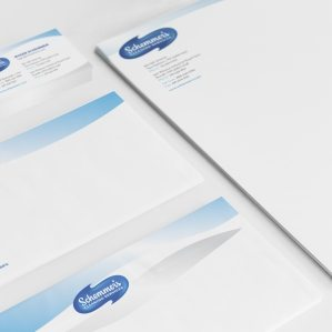 Stationery design for a cleaning service located in Two Harbors, MN.
