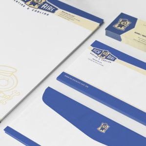 Stationery design for a heating and cooling company located in Union, NJ.