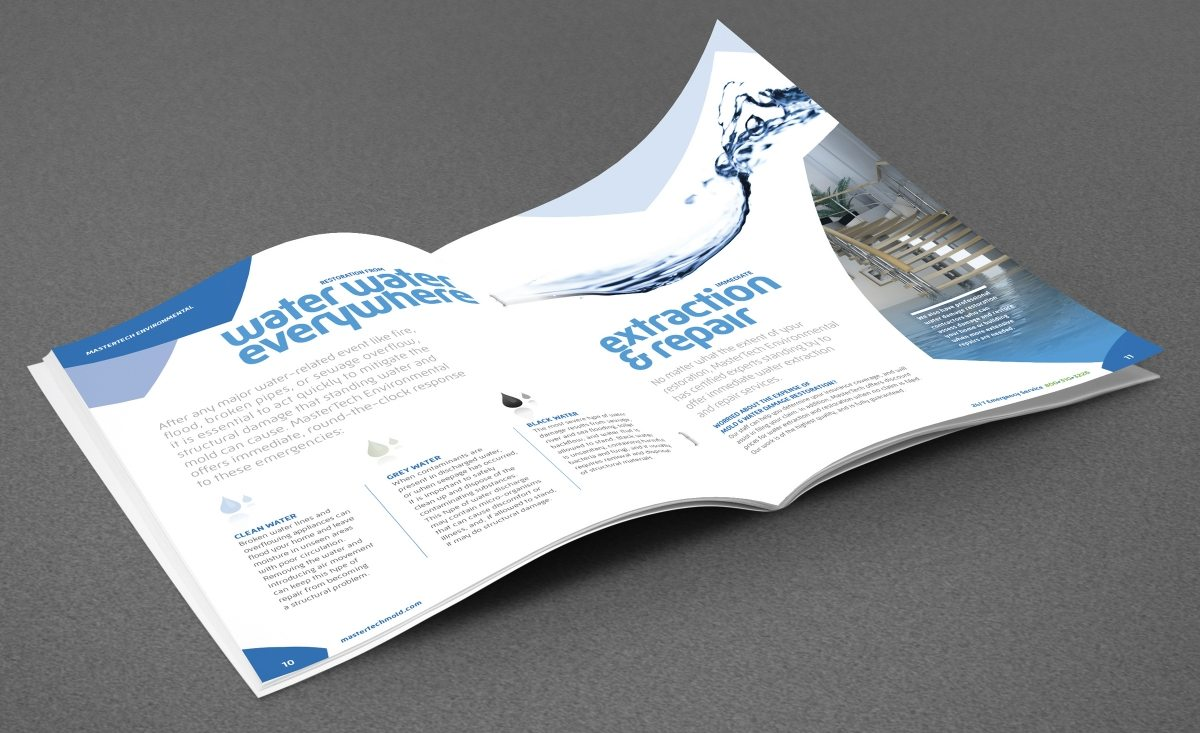 full color multipage brochure design for MasterTech