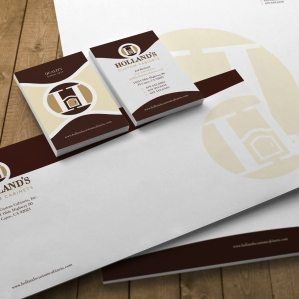 Stationery design for a kitchen cabinet company in San Diego.
