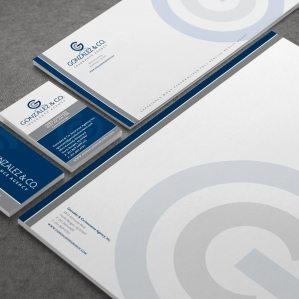 Stationery design created for a New Jersey and New York insurance company.
