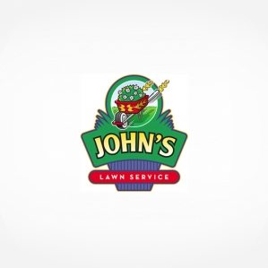 Fun logo for a landscape and garden center. This retro logo was actually made into a sign as well.