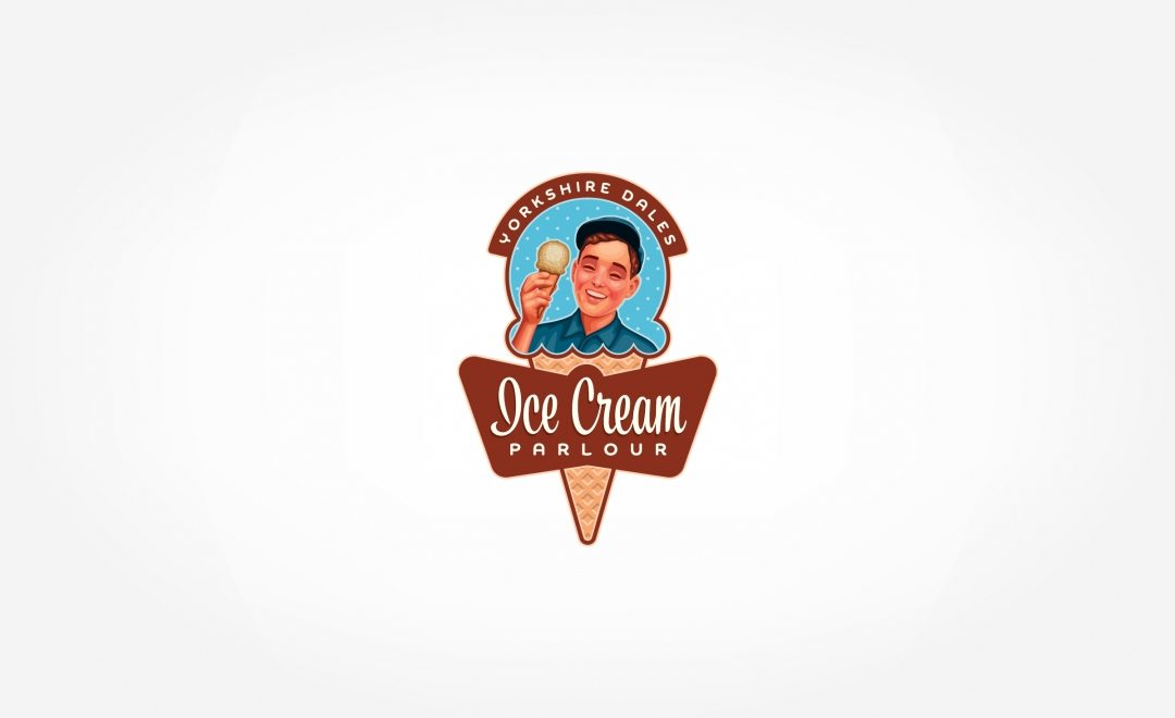 Retro logo design for a new ice cream parlour located in the UK.
