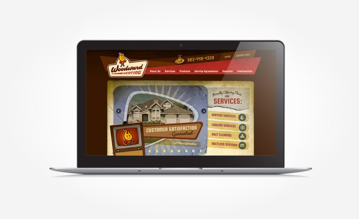 Web design for a full service HVAC contractor located in Aumsville, OR.
