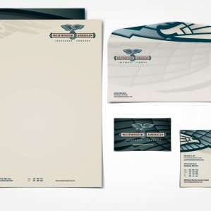 Stationery design for an insurance company in Westminster, MD.