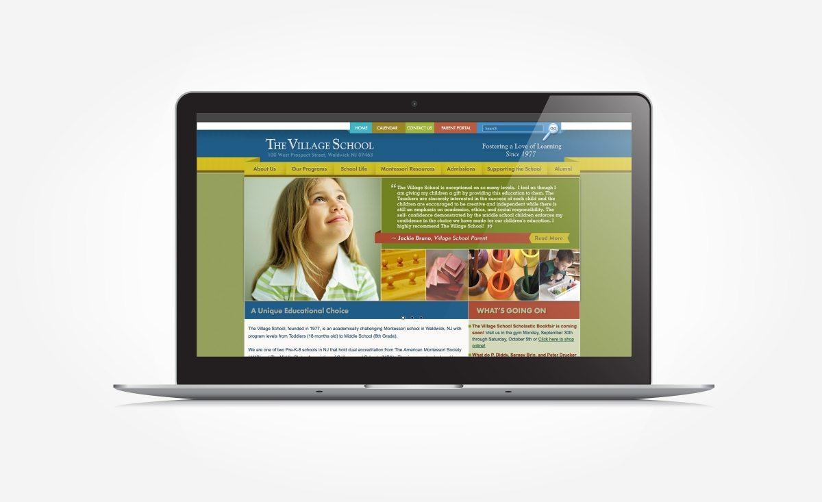 Web design for a Montessori school in Waldwick, NJ