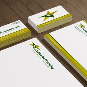 Stationery design for a New Jersey based medical funding company.