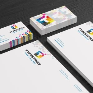 Stationery design for a screen printing company in Manahawkin, NJ.