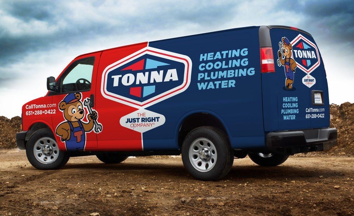 Fleet branding for a hvac contractor located in Minnesota.