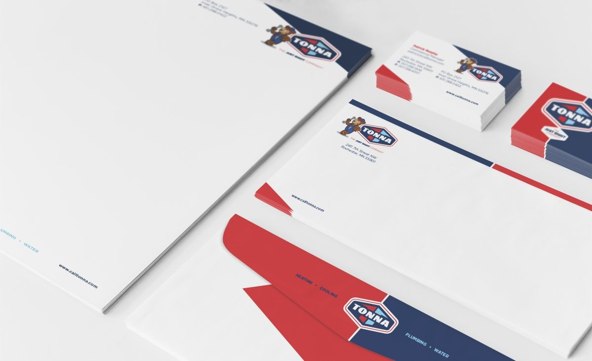 Stationery design for a hvac contractor located in Minnesota.