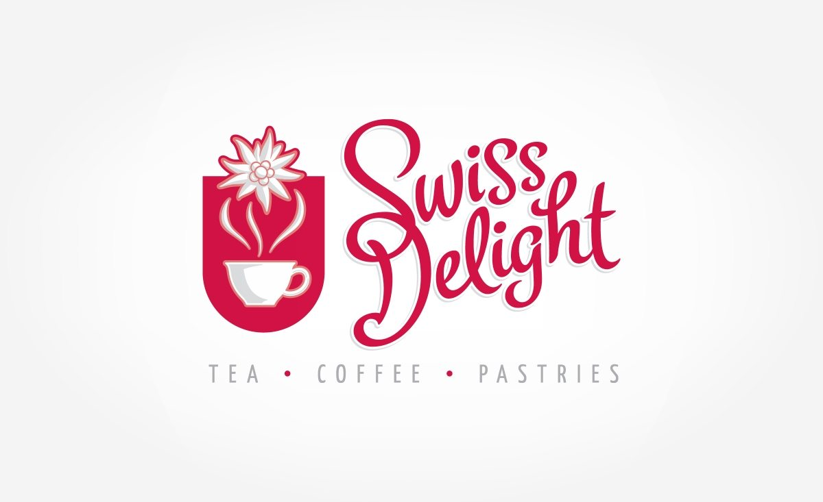 Logo design for a tea, coffee and pastries shop located in Switzerland.