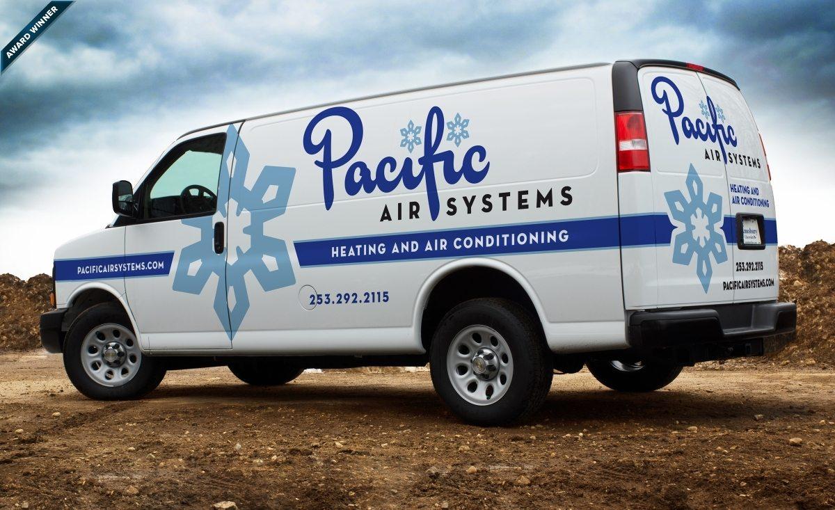 2013 Winner for best fleet branding for an HVAC business: HVACR Magazine's Tops in Trucks Contest