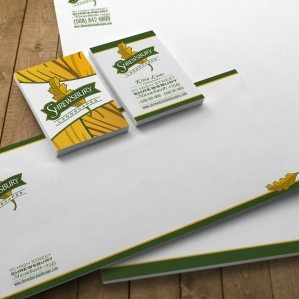Stationery design for a landscape company in Shrewbury, MA.