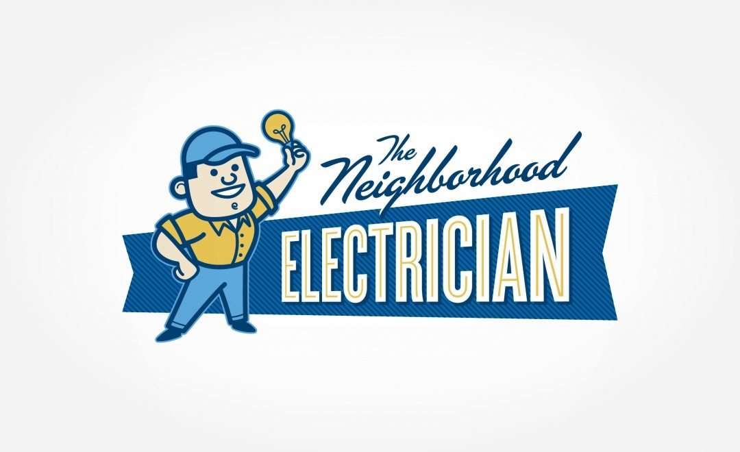 Retro logo for electrical contractor in Michigan.