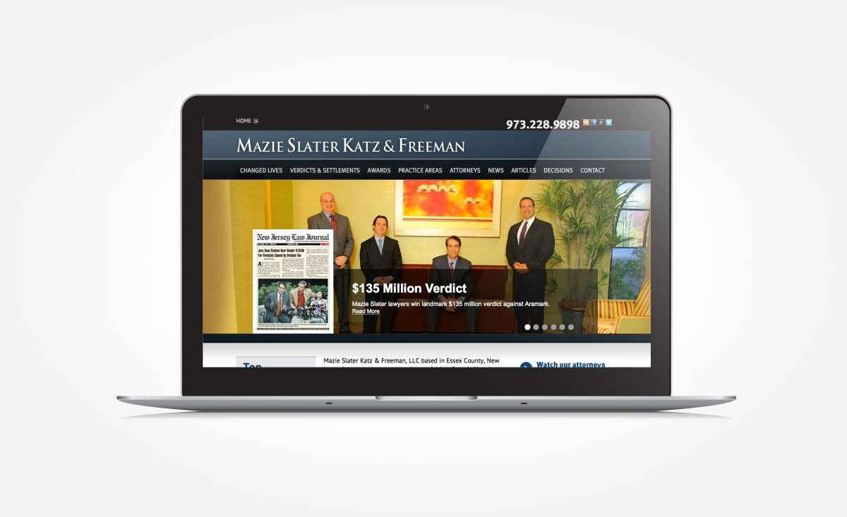 Web design for a law firm located in Essex County, NJ