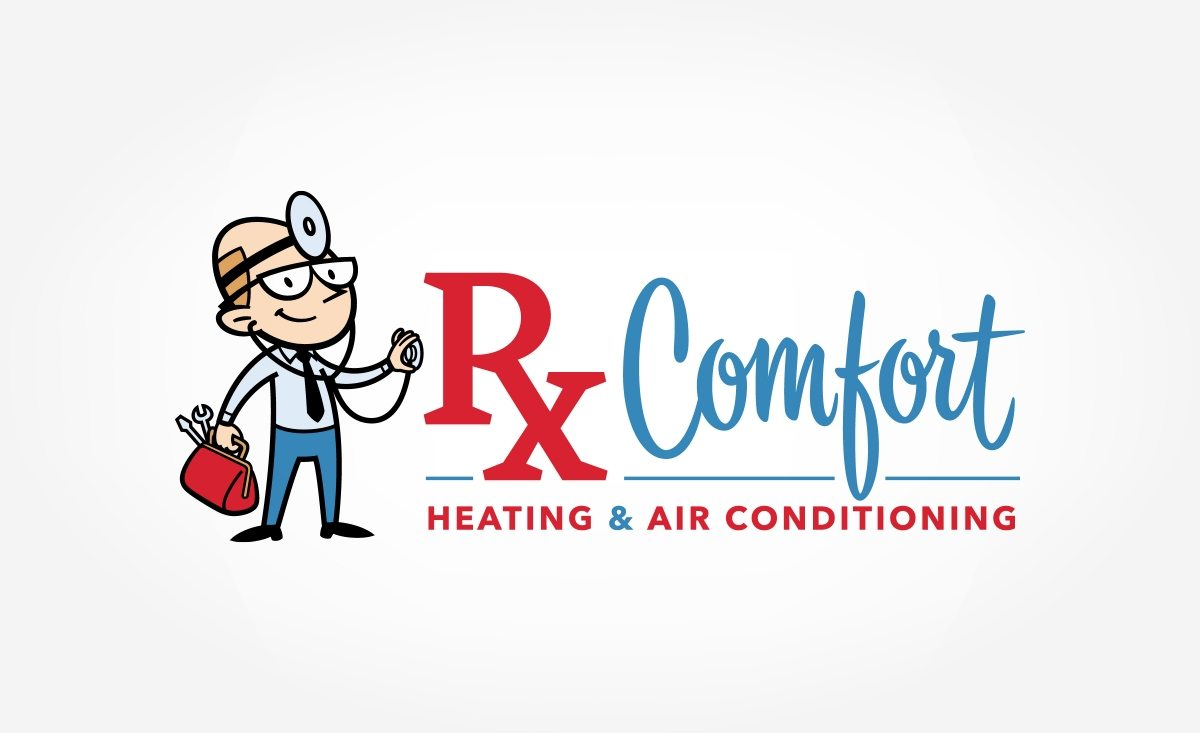 Character driven logo for a heating and a/c contractor in Michigan.