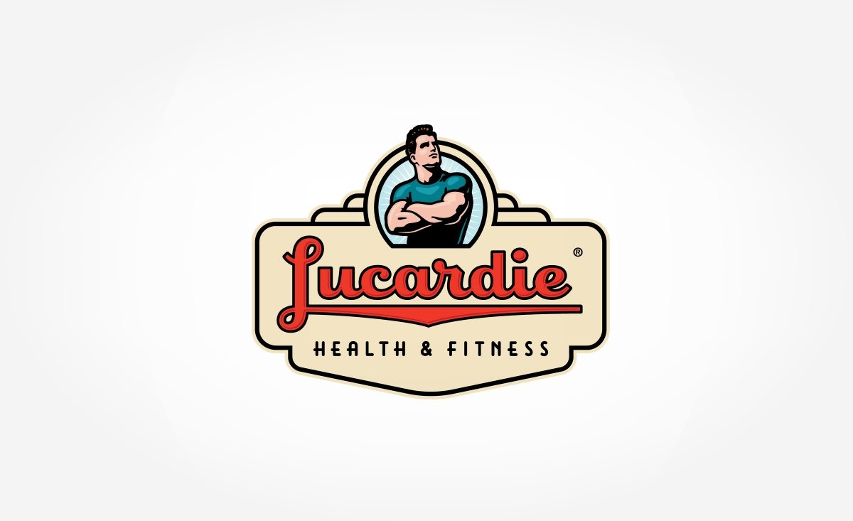 Retro themed branding and logo design for a fitness club located in Holland.