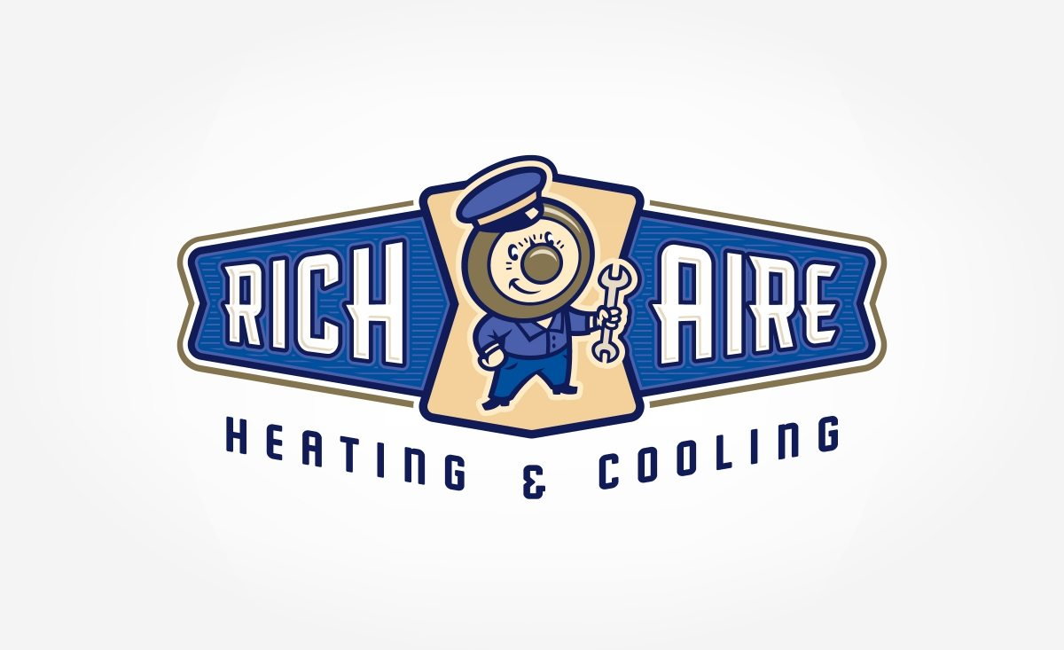Retro branding and logo design for heating and cooling company in Union, NJ.