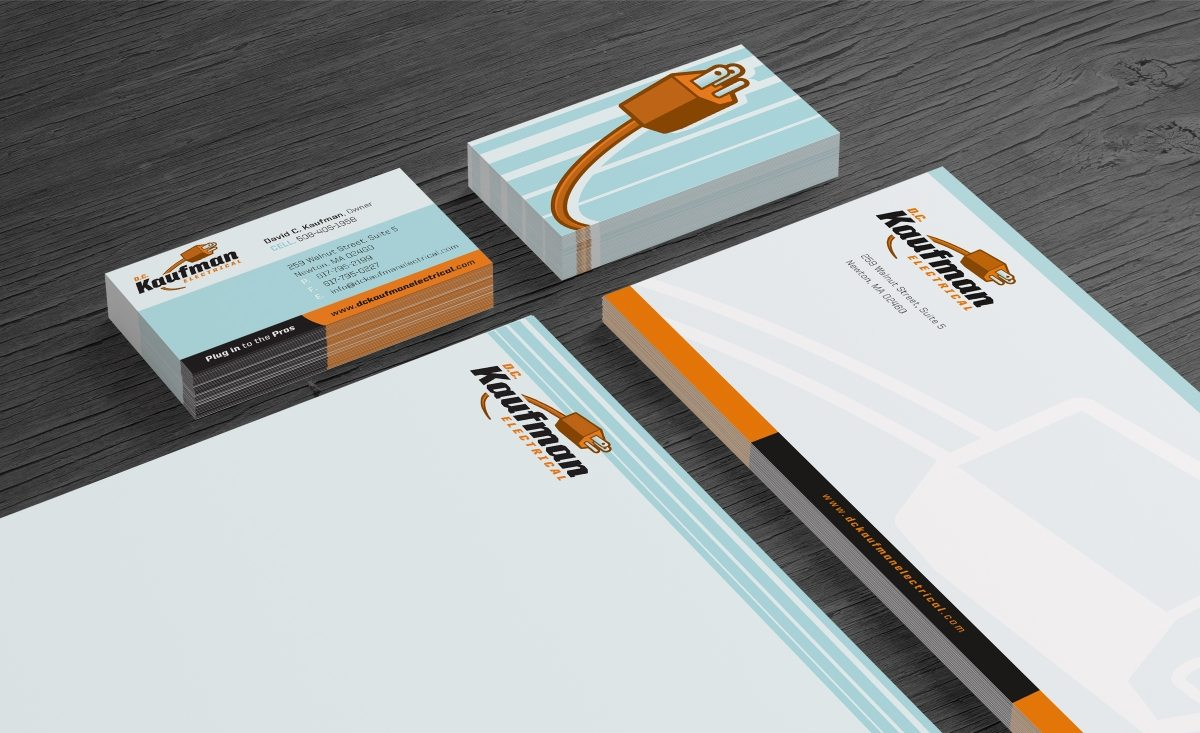 Stationery design for a Massachusetts based full service electric company.