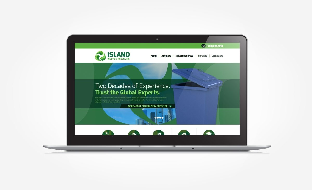 Website design and development for a waste and recycling brokerage firm located in Woodcliff Lake, NJ.