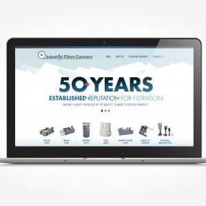 Web design for a filtration manufacturer located in Fairfield, NJ