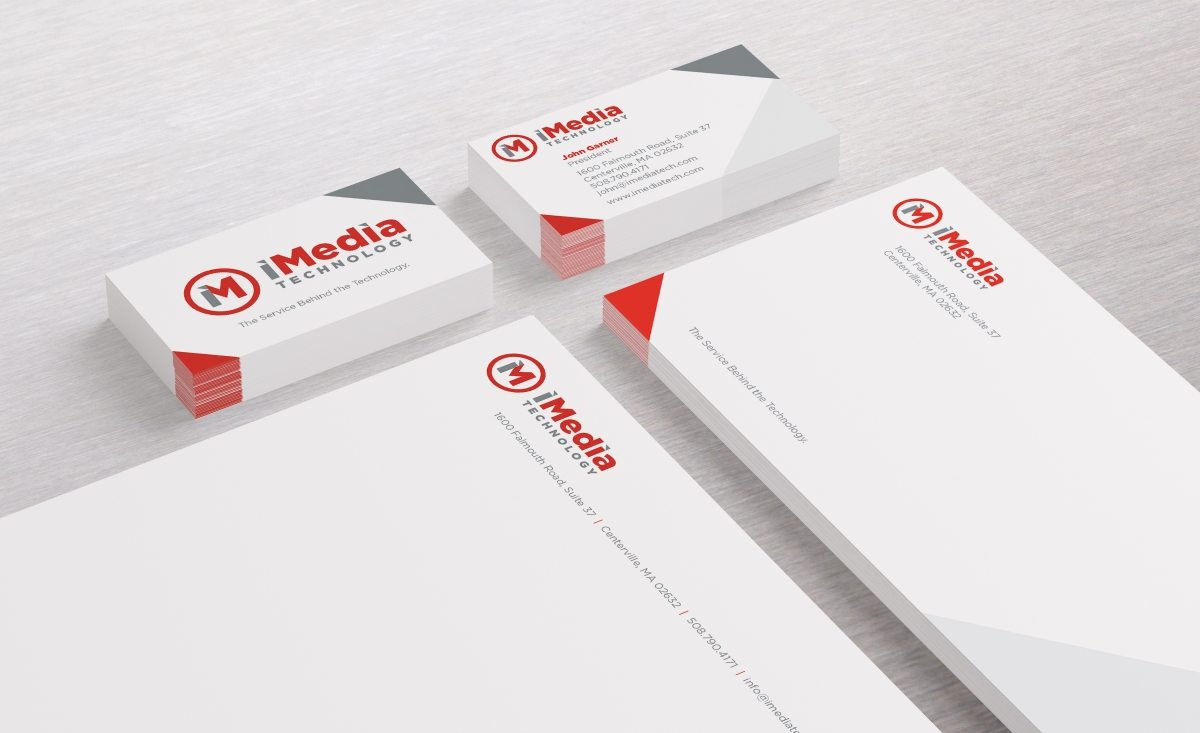 Stationery design for IT department services located in Centerville, MA.