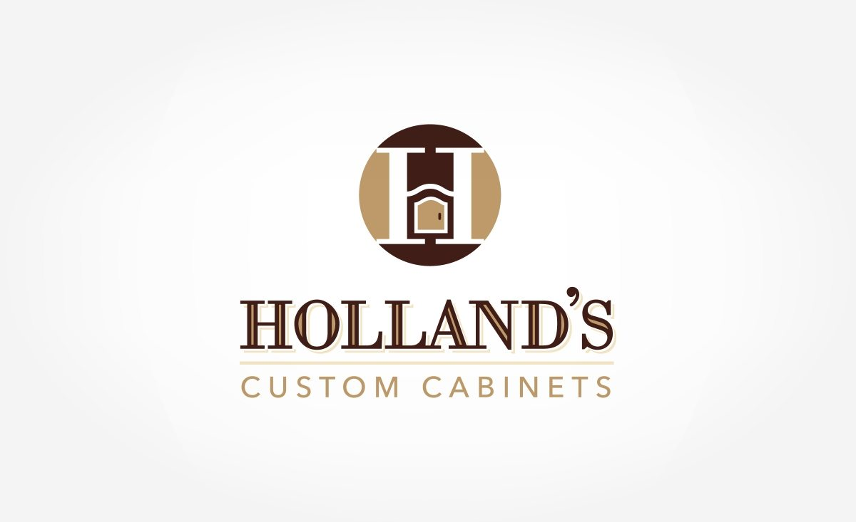 Logo design holland 39 s custom cabinets graphic d signs for Kitchen decoration logo