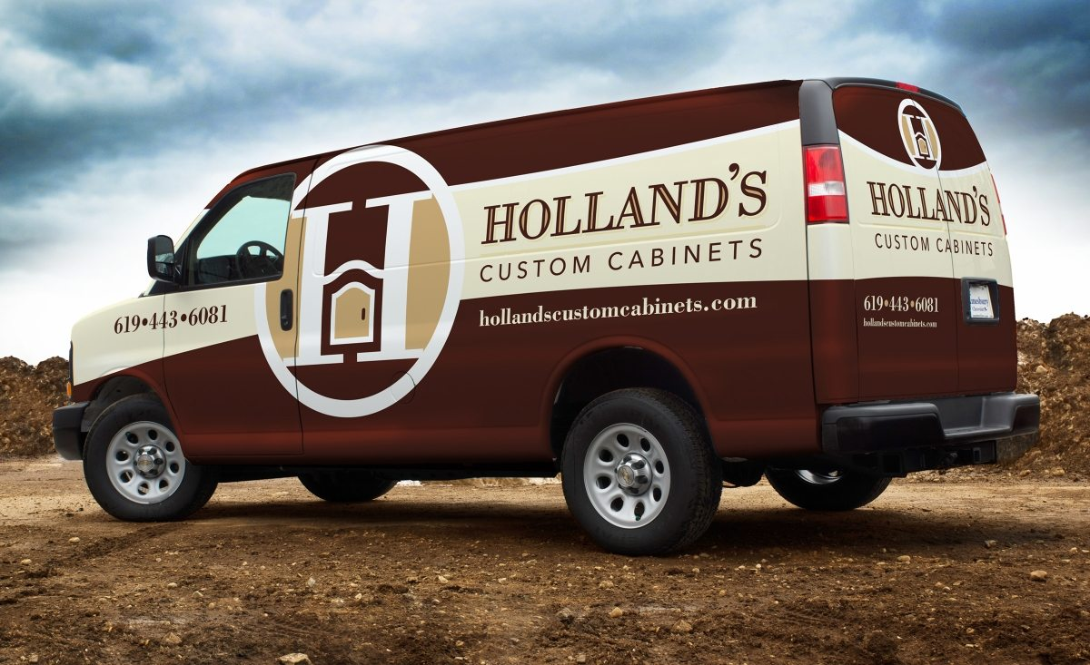For A Kitchen Logo Design Hollands Custom Cabinets Graphic D Signs