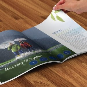 Collateral and brochure design.