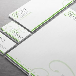Stationery design for a landscape company in Greenfield, IN.