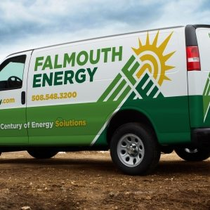 Truck wrap design and branding for an energy solution company located in Falmouth, MA.