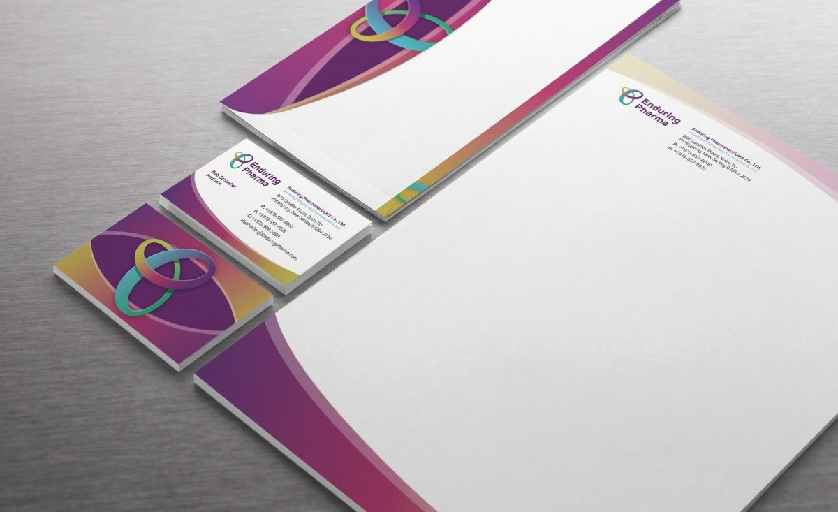 Stationery design for a pharmaceutical company in New Jersey