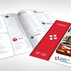 Full color brochure for Emergency Medical Translation.