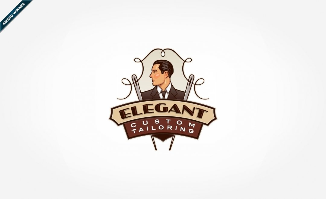 Retro logo design for a tailor in Chester, NJ, and Featured in