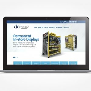 Web design for a permanent and temporary displays company in Morristown, NJ.