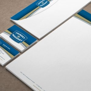 Branding and stationery design for a chimney and masonry restoration company located in Indianapolis, IN.