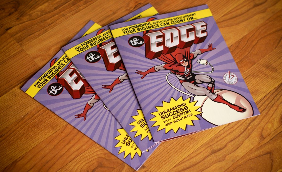 Full color brochure for Business Edge, our hosting partners.