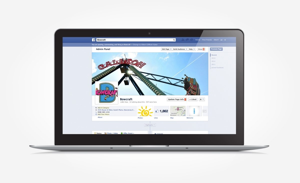 Facebook management for Bowcraft, a family amusement park located in NJ.